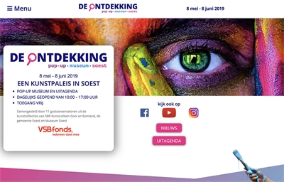 De ontdekking pop-up/museum